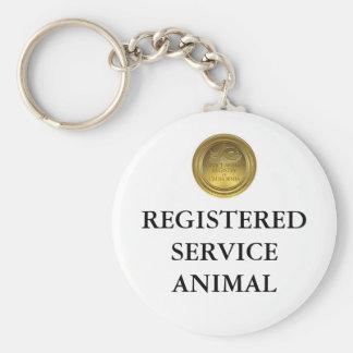 Etiqueta o llavero animal registradoa del servicio
