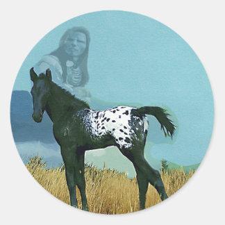 Etiqueta o pegatina del potro de Nez Perce