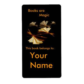 Etiqueta o placa del libro etiquetas de envío