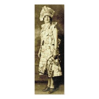 Etiqueta o tarjeta de la moda del vintage tarjetas de visita mini