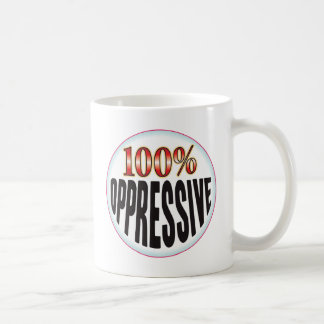 Etiqueta opresiva taza básica blanca