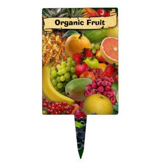 Etiqueta orgánica de la fruta decoración de tarta