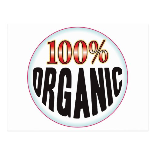 Etiqueta orgánica tarjeta postal