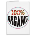 Etiqueta orgánica tarjetas