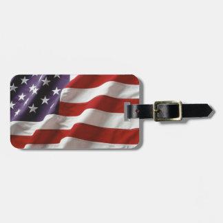 Etiqueta orgullosa y patriótica del equipaje de lo etiquetas para equipaje