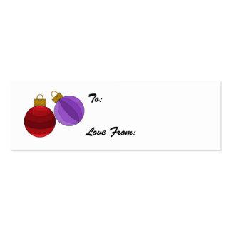 Etiqueta ornamental del regalo tarjetas de visita mini