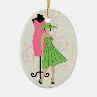Etiqueta/ornamento de costura - SRF Adorno Ovalado De Cerámica
