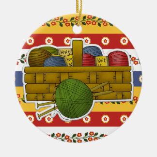 Etiqueta/ornamento que hacen punto - SRF Adorno Redondo De Cerámica