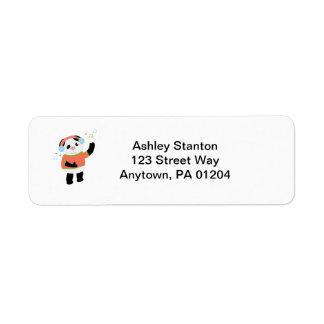 Etiqueta oscilante de Avery del oso de panda Etiqueta De Remite