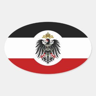 Etiqueta oval del coche del imperio alemán