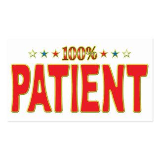 Etiqueta paciente de la estrella tarjetas de visita