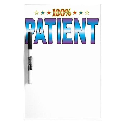 Etiqueta paciente v2 de la estrella pizarras blancas