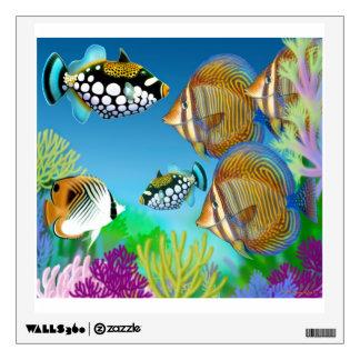 Etiqueta pacífica de la pared de los pescados del