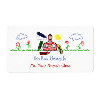 Etiqueta para los profesores - escuela del Bookpla Etiqueta De Envío