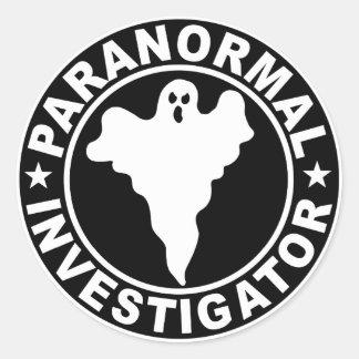 Etiqueta paranormal del logotipo del investigador