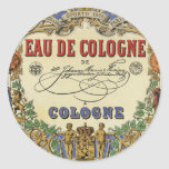 Etiqueta parisiense del perfume del vintage