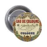 Etiqueta parisiense del perfume del vintage románt pins