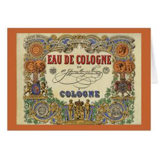 Etiqueta parisiense del perfume del vintage tarjeta de felicitación