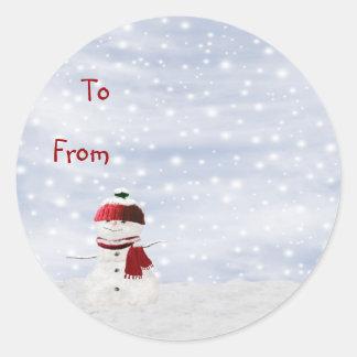 Etiqueta pegajosa del regalo de la etiqueta del
