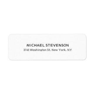 Etiqueta personal especial única del remite etiqueta de remitente