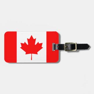 Etiqueta personalizada bandera canadiense del equi etiquetas para equipaje