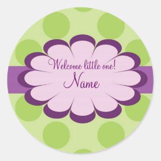 Etiqueta personalizada bebé hermoso