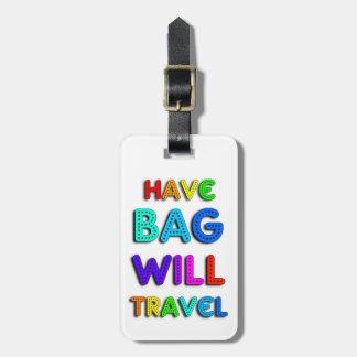 Etiqueta personalizada colorida del equipaje del a etiquetas bolsa