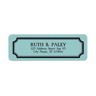 Etiqueta personalizada de la frontera de la etiquetas de remite