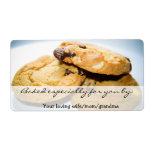 Etiqueta personalizada de la galleta etiquetas de envío