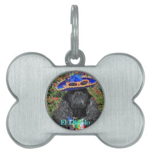 Etiqueta personalizada de la identificación del pe placa mascota