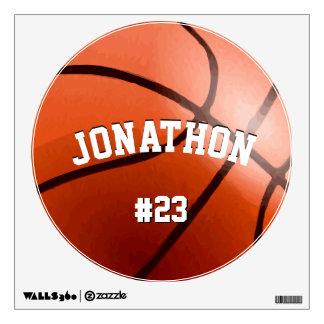 Etiqueta personalizada de la pared del baloncesto