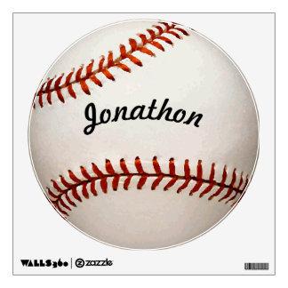 Etiqueta personalizada de la pared del béisbol vinilo adhesivo