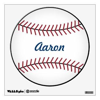 Etiqueta personalizada de la pared del béisbol vinilo decorativo