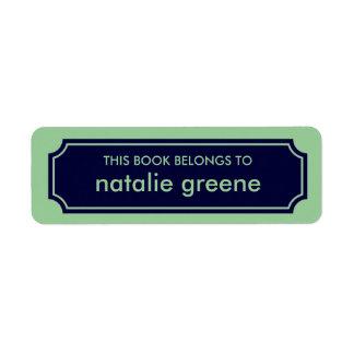 Etiqueta personalizada del Bookplate de la Etiqueta De Remitente