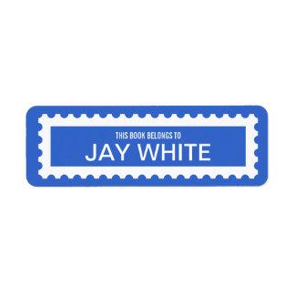 Etiqueta personalizada del Bookplate del borde del Etiqueta De Remite
