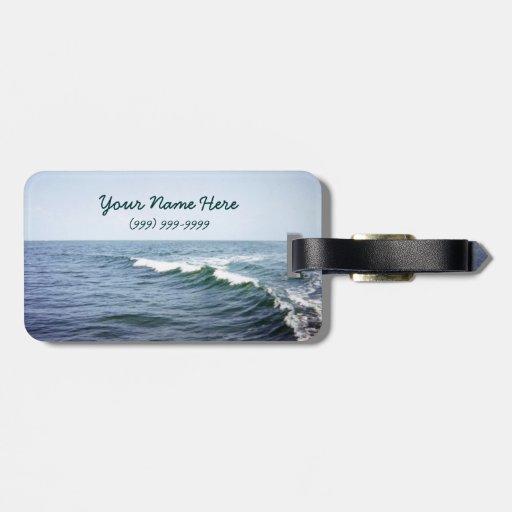 Etiqueta personalizada del equipaje de la agua de  etiquetas para maletas