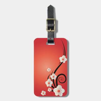 Etiqueta personalizada del equipaje de la flor de  etiqueta para equipaje