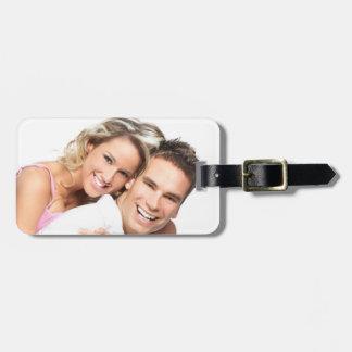 Etiqueta personalizada del equipaje de la foto etiqueta de maleta