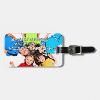 Etiqueta personalizada del equipaje de la foto etiquetas para equipaje