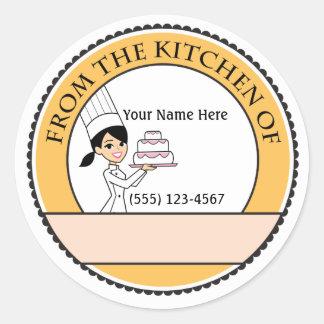 Etiqueta personalizada del pegatina de la venta