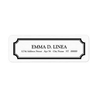 Etiqueta personalizada del remite de la buhardilla etiquetas de remite