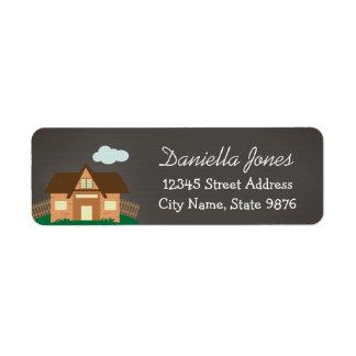Etiqueta personalizada del remite de la casa etiqueta de remite