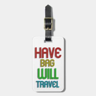 Etiqueta personalizada enrrollada del equipaje del