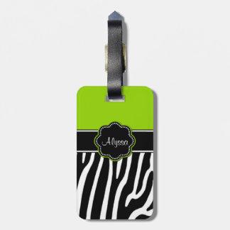 Etiqueta personalizada estampado de zebra del