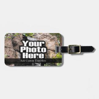 Etiqueta personalizada foto de encargo del nombre etiquetas bolsas