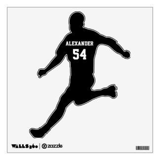 Etiqueta personalizada fútbol de la pared vinilo