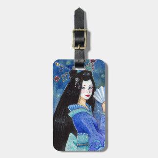 Etiqueta personalizada geisha del equipaje de la s etiquetas de equipaje