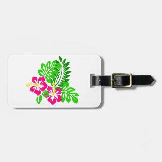 Etiqueta personalizada hibisco tropical del etiquetas de maletas
