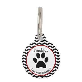 Etiqueta personalizada impresión linda del mascota identificador para mascotas
