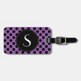 Etiqueta personalizada monograma del equipaje del  etiquetas de equipaje